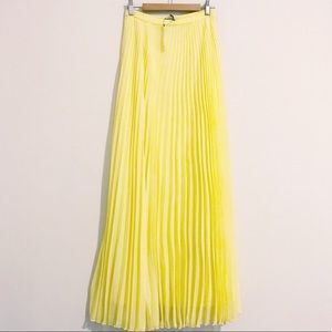 ASOS | Lemon Flowy Pleated Maxi Skirt